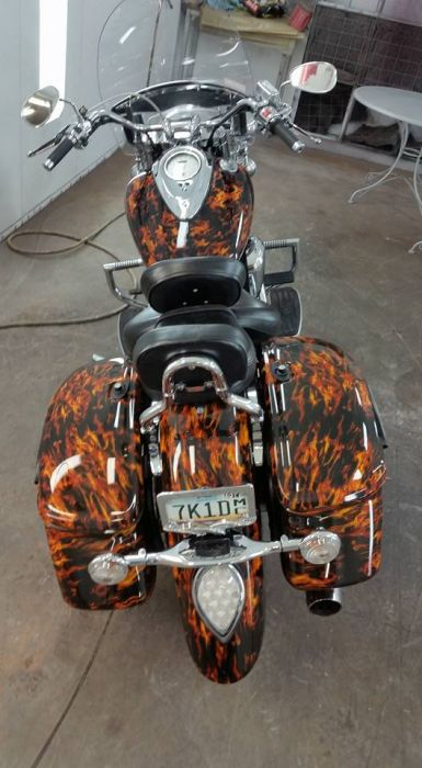 Custom Motorcycle painting Coyote Customs and Collision repair