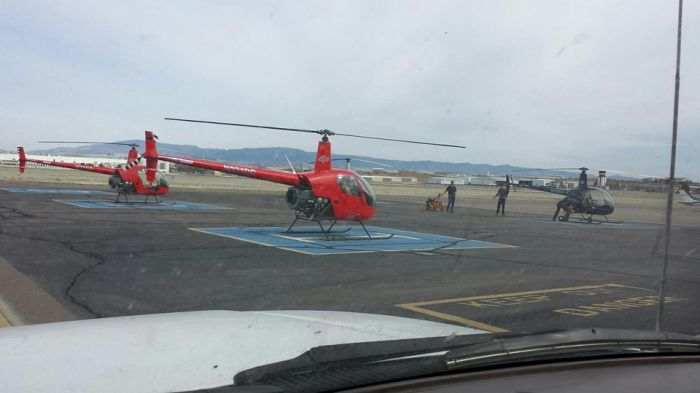 helicopter painted by Coyote Customs and Collision repair in Payson Arizona