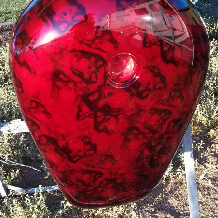 Custom Motorcycle painting Coyote Customs and Collision repair in Payson Arizona