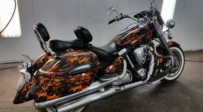 Motorcycle painting at Coyote Customs and Collision repair
