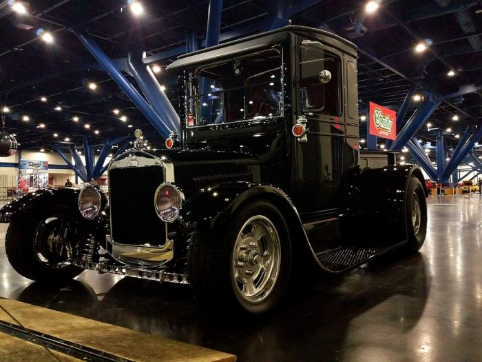 Classic Restoration in a showroom brought to you Coyote Customs and Collision Repair