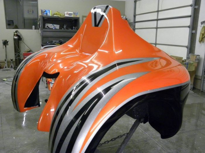 Coyote Customs and Collision repair brings you Motorcycle painting in Payson Arizona
