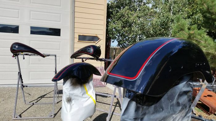Coyote Customs and Collision repair Custom offers Motorcycle painting