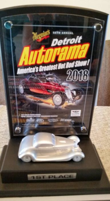 Detroit Autorama first place won by Coyote Customs and Collision Repair for 2018