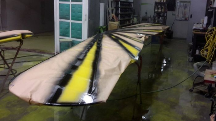 Special airplane paint job being prepped by Coyote Customs and repair in Payson Arizona
