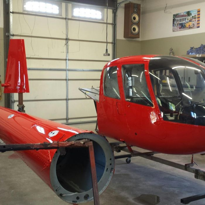 Special helicopter paint job by Coyote Customs and repair in Payson Arizona