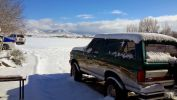 Snow on a custom auto paint by Coyote customs in payson arizona